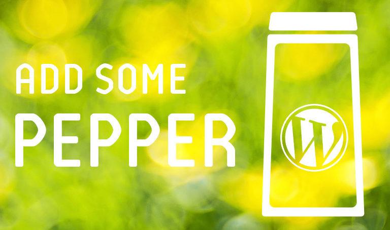 WordPress Pepper-Update