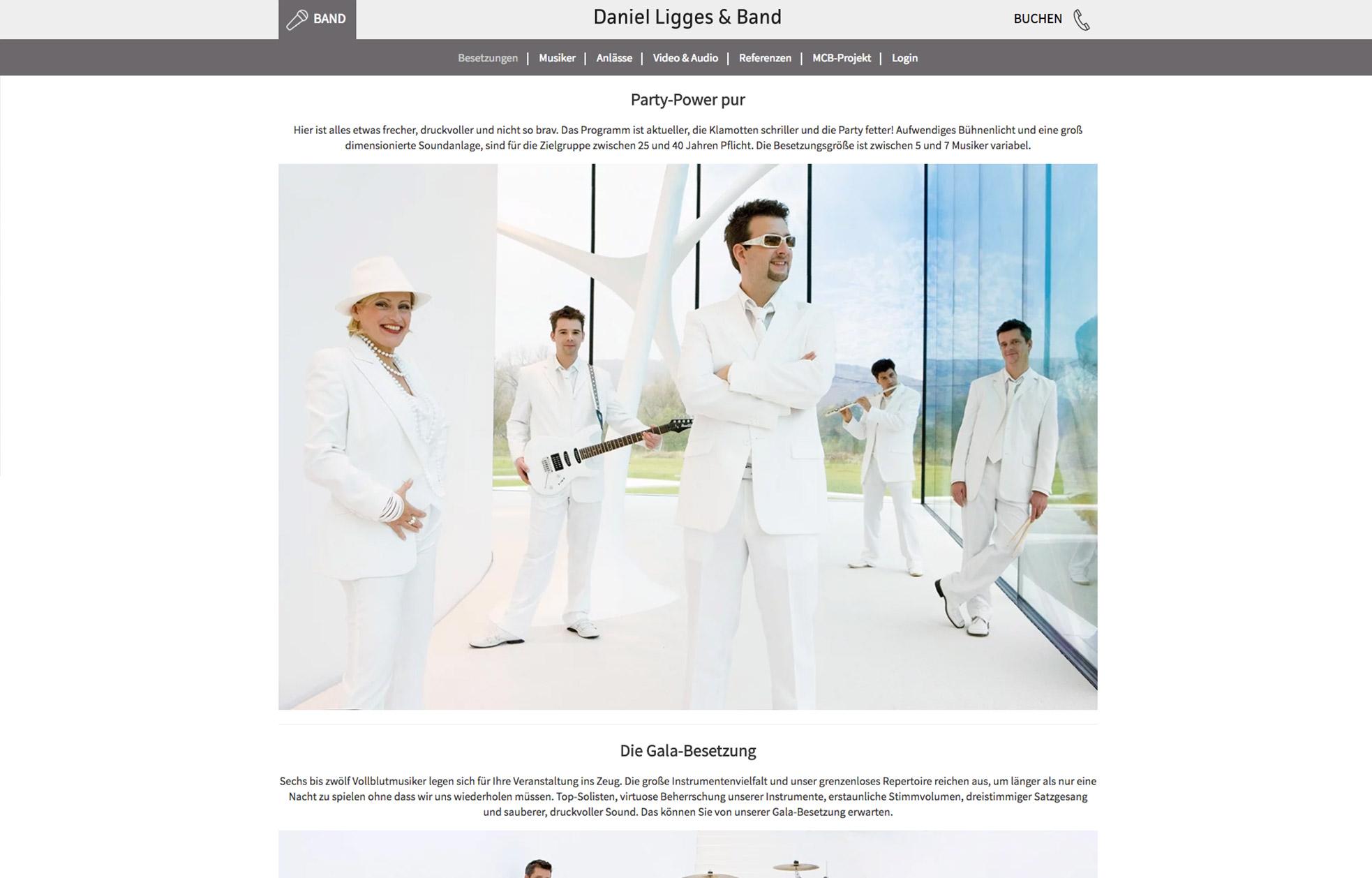 Daniel Ligges & Band – Unternehmenswebseite
