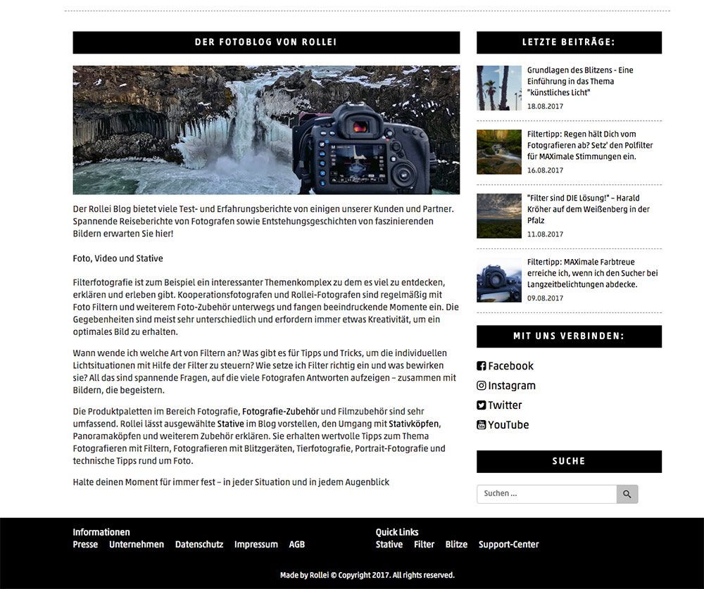 Rollei – Unternehmensblog