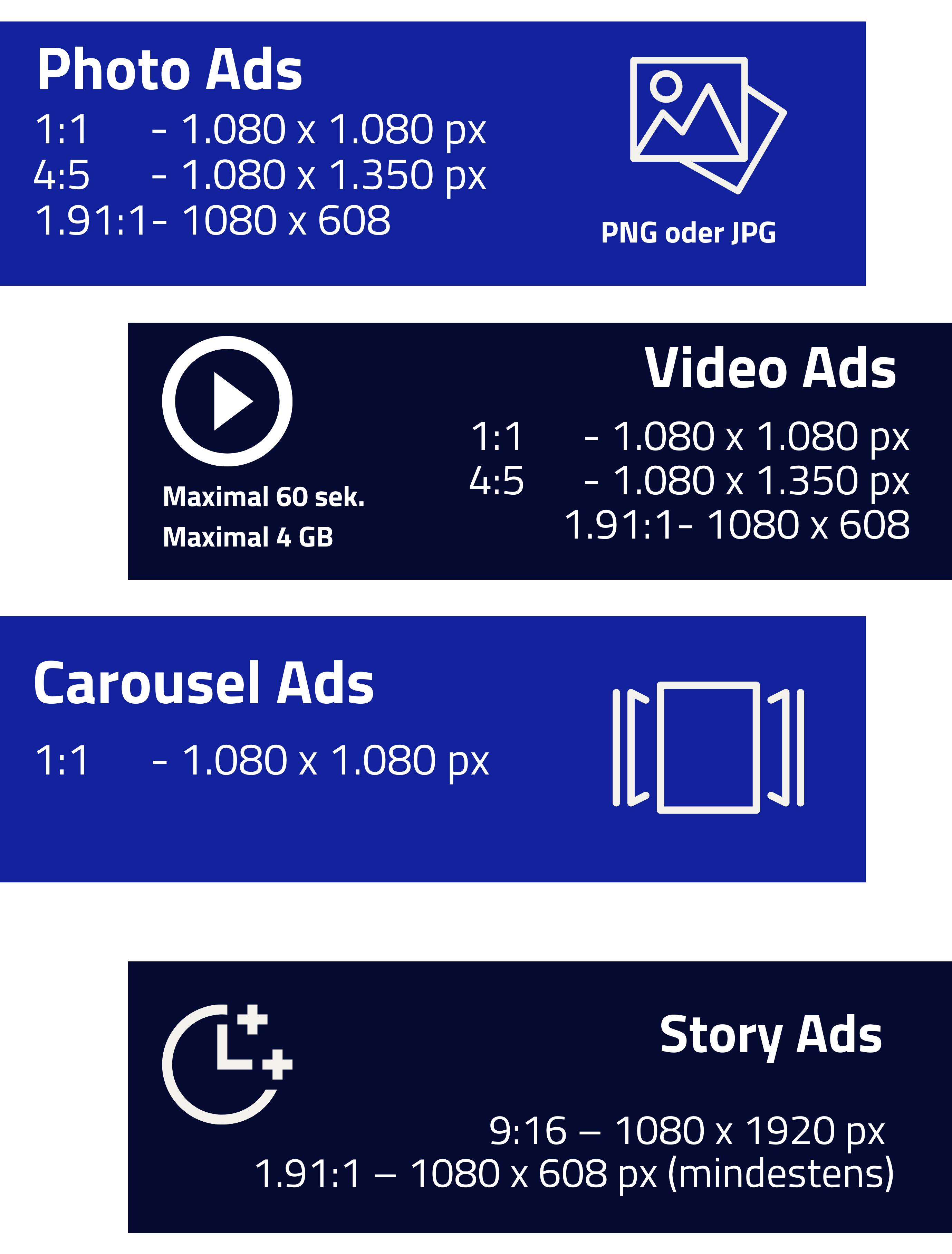 Bildgrößen für Facebook Ads