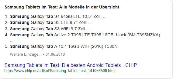 Position Null in den Google Suchergebnissen 5