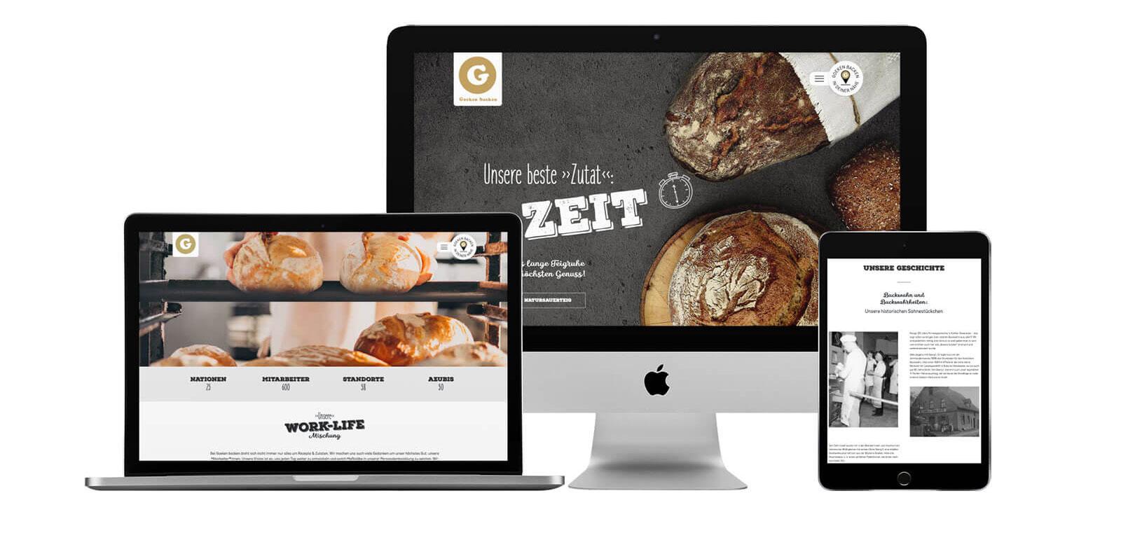 Goeken backen Website responsive
