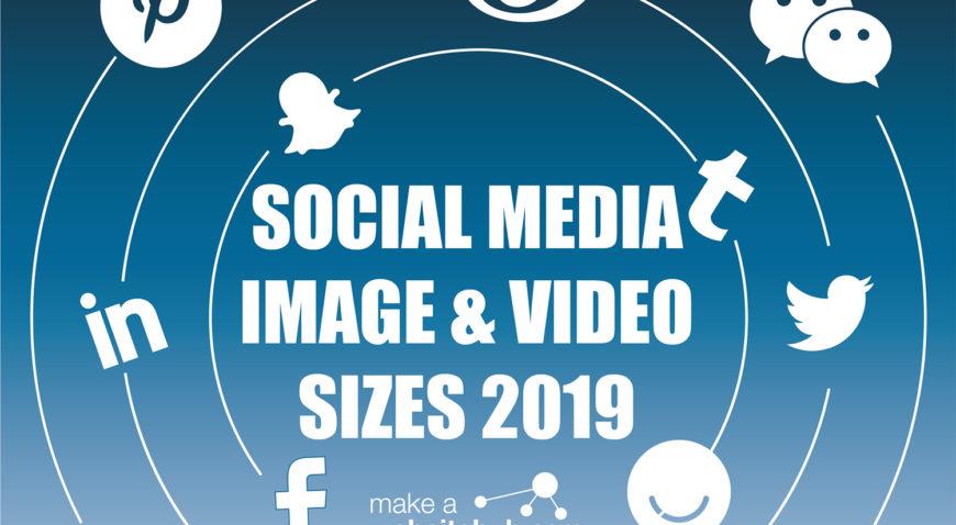 Social Media Bildgrößen 2019 [Infografik] 1